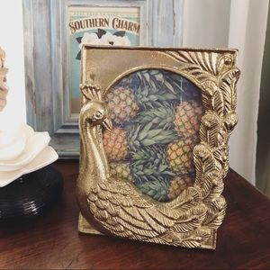Other - New! HP 🦚 Golden Peacock Picture Frame 4x6